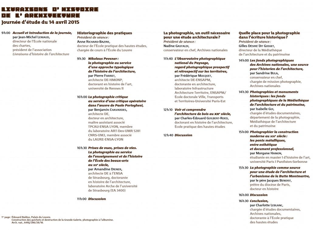 Programme JE LHA 03